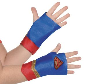 Child Supergirl Gloveletttes - Superman