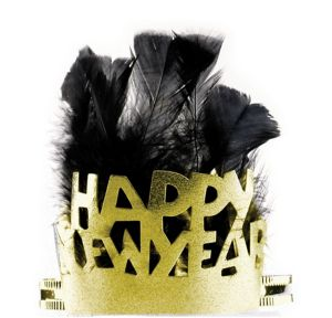 Gold Happy New Year's Tiara