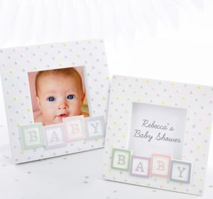 Baby Block Photo Frame Place Card Holder