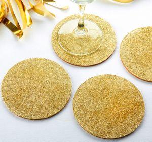 Glitter Gold Coasters