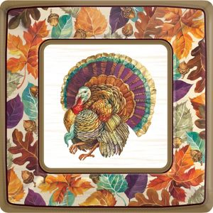 Traditional Thanksgiving Dinner Plates 8ct