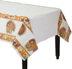 Traditional Thanksgiving Paper Table Cover