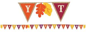 Happy Thanksgiving Burlap Pennant Banner