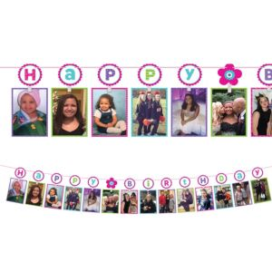 Pastel Birthday Photo Garland