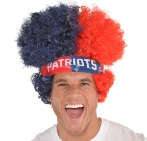 New England Patriots Afro Wig