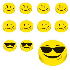 Smiley Erasers 48ct