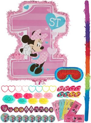 1st Birthday Minnie Mouse Pinata Kit with Favors