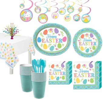 Egg-citing Easter Tableware Kit for 16 Guests