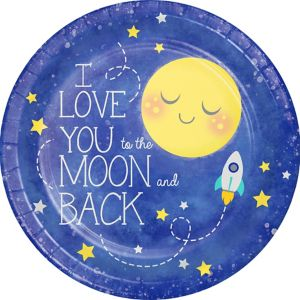Moon & Stars Lunch Plates 8ct