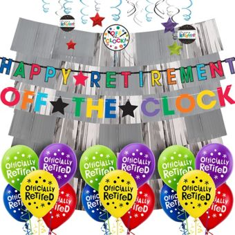 Happy Retirement Celebration Decorating Kit with Balloons
