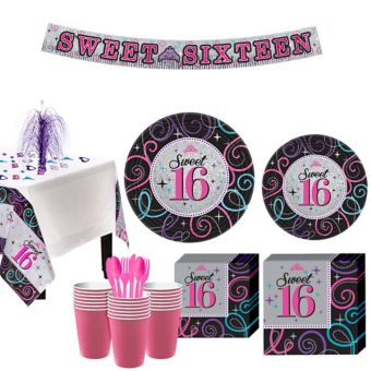 Celebrate Sweet 16 Party Kit for 32 Guests