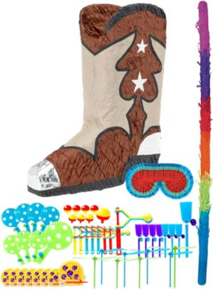 Cowboy Boot Pinata Kit with Favors