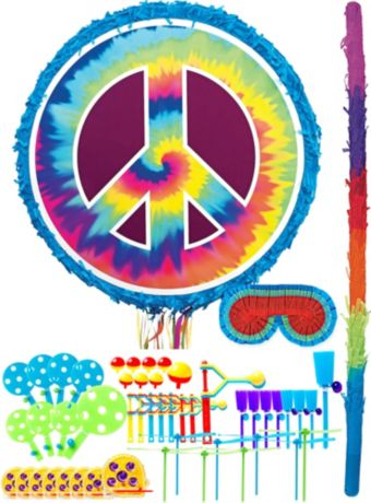 Tie-Dye Peace Sign Pinata Kit with Favors