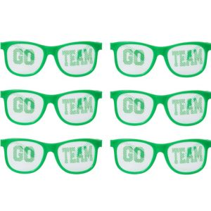 Green Go Team Printed Glasses 12ct