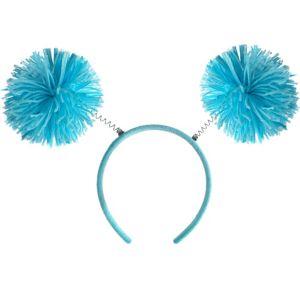 Turquoise Pom-Pom Head Bopper