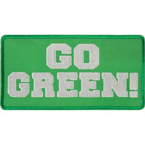 Go Green Iron-On Patch