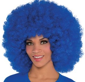Giant Blue Afro Wig