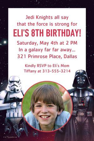 Custom Star Wars Photo Invitation