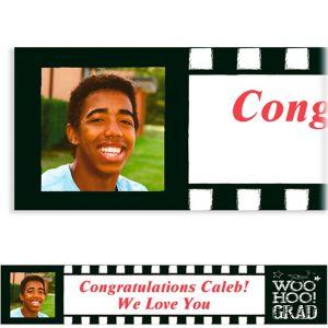 Custom Chalk Hooray Graduation Photo Banner