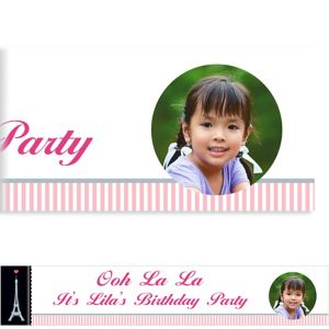 Custom Pink Paris Party Photo Banner