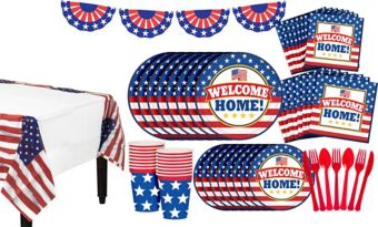 Patriotic Welcome Home Super Party Kit for 36 Guests