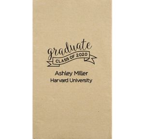 Personalized Graduation Eco-Friendly Guest Towels