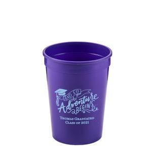 Personalized Graduation Plastic Stadium Cups 12oz