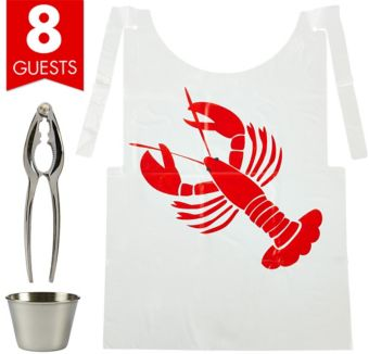Seafood Fest Serveware Kit for 8 Guests
