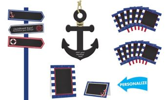 Striped Nautical Personalized Decorating Kit
