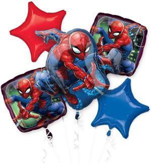 Spider-Man Webbed Wonder Balloon Bouquet 5pc