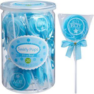 It's A Boy Swirly Pops 20ct