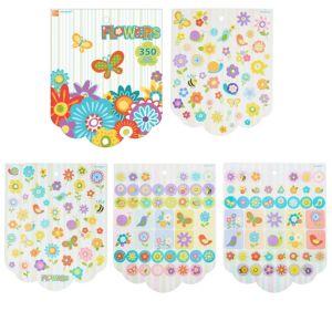 Jumbo Flowers Sticker Book 8 Sheets