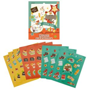 Schoolhouse Sticker Book 9 Sheets