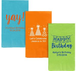 Personalized Birthday Guest Towels