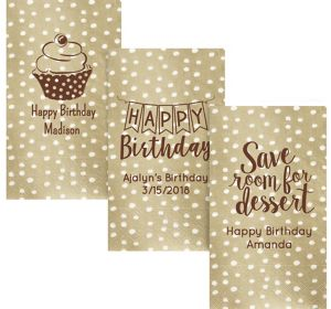 Personalized Birthday Small Dots Guest Towels