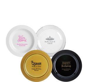 Personalized Birthday Premium Plastic Dessert Plates