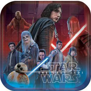 Star Wars 8 The Last Jedi Lunch Plates 8ct