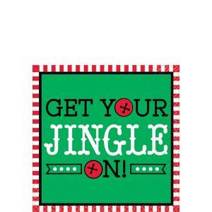Get Your Jingle On Beverage Napkins 16ct