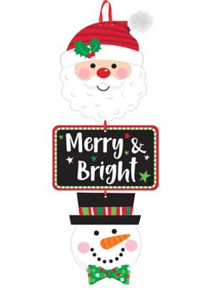Merry & Bright Stacked Sign