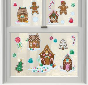 Gingerbread Cling Decals 15ct