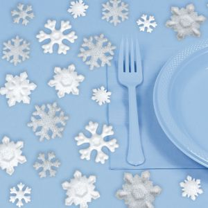 Glitter Snowflake Table Scatter 23ct