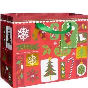 Small Patchwork Christmas Gift Bag