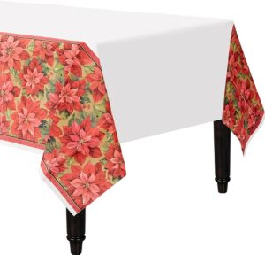 Holiday Poinsettia Table Cover