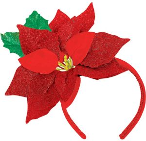 Glitter Poinsettia Headband