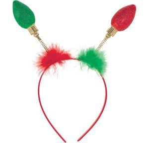 Glitter Christmas Lights Head Bopper