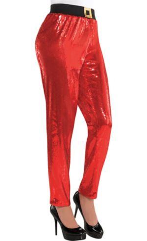 Adult Sequin Santa Pants
