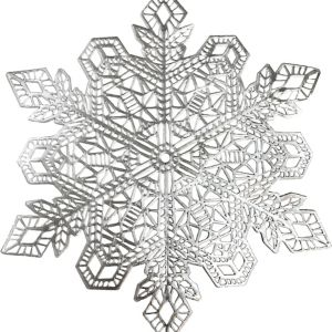 Silver Snowflake Placemat