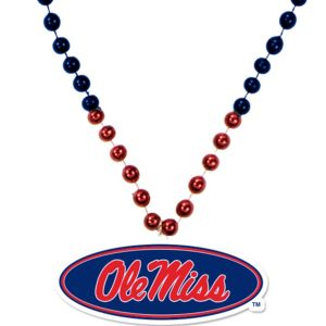 Ole Miss Rebels Pendant Bead Necklace