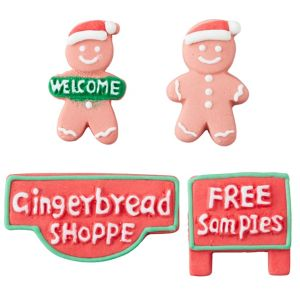 Gingerbread Man Icing Decorations 5ct