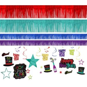 Colorful New Year's Room Decorating Kit 28pc